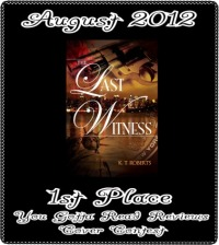 Award Badge for THE LAST WITNESS 2012, Best Cover